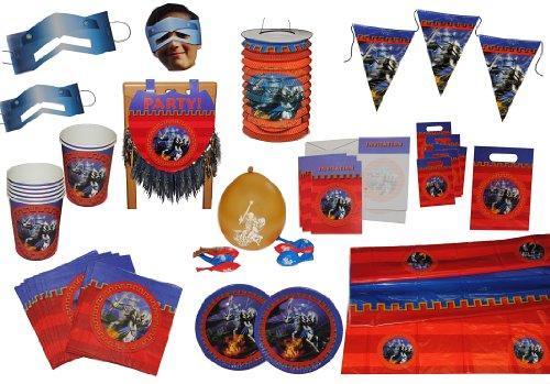 alles-meine.de GmbH 8 TLG. Set Luftballons Ritter - Ritterburg Ballon - Kindergarten Kindergeburtstag Party Deko Burg