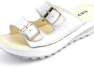 Women's Arizona Flat Sandals Double Strap Adjustable Buckle Casual Open Toe Soft Slippers