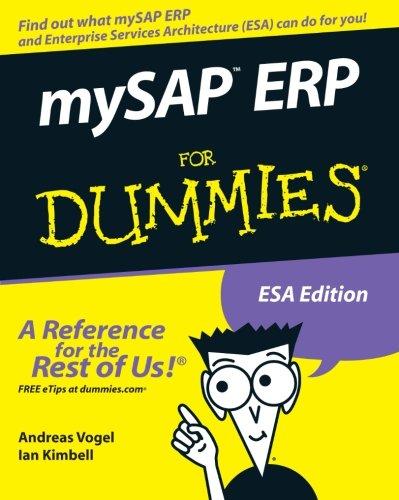 mySAP ERP for Dummies (For Dummies Series)