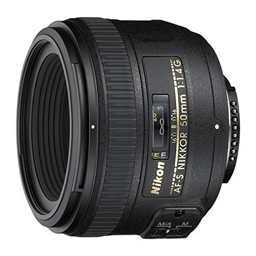 small Nikon AF-S FX NIKKOR 50mm f / 1.4G autofocus lens for Nikon DSLR camera