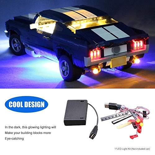 Led Licht (nur Licht Set) für Creator Expert Ford Mustang Licht Set kompatibel mit Lego 10265 (Modell Nicht Enthalten)