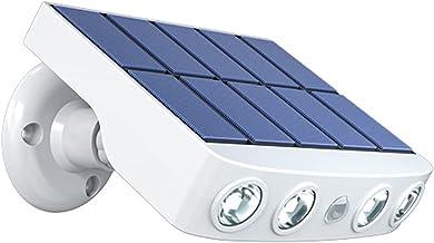 Lâmpada de jardim ao ar livre Lâmpada LED de parede movida a energia solar Luzes giratórias à prova d'água com sensor de m...