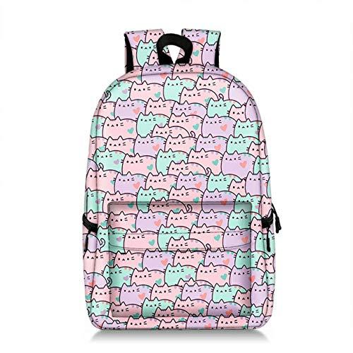 GD-Tshirts Kids Cartoon Cat Backpack-Lightweight Girls School Bag Laptop Bag-Backpacks for Travel,Outdoor