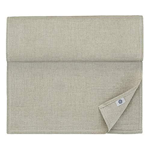 Linen & Cotton, Chemin De Table de Luxe Anabella, 100% Lin - Beige/Naturel/Gris (47 x 130cm)