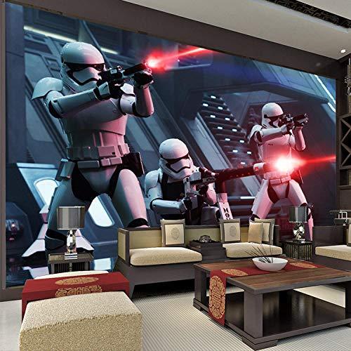 Nomte Star Wars Fototapete Storm Troop Tapete Benutzerdefinierte 3D Wandmalereien Jungen Kinder Schlafzimmer Wohnzimmer Kunst Room Decor Great Movies 200x140cm