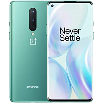 OnePlus 8 Glacial Green,​ 5G Unlocked Android Smartphone U.S Version, 8GB RAM+128GB Storage, 90Hz Fluid Display,Triple Camera, with Alexa Built-in,