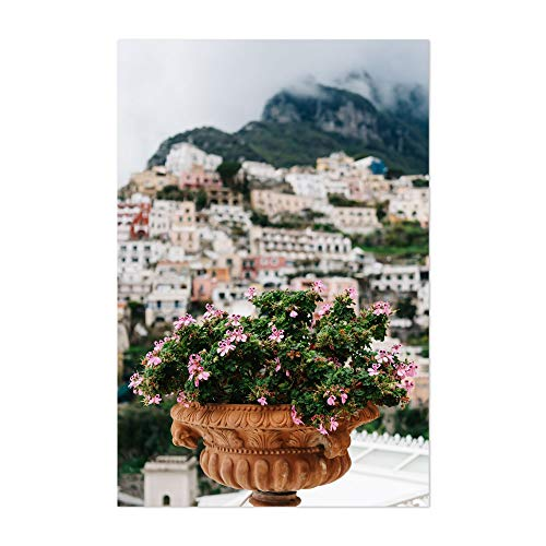 "Noir Gallery Positano Italy Floral Nature Photo 5"" x 7"" Unframed Art Print/Poster"