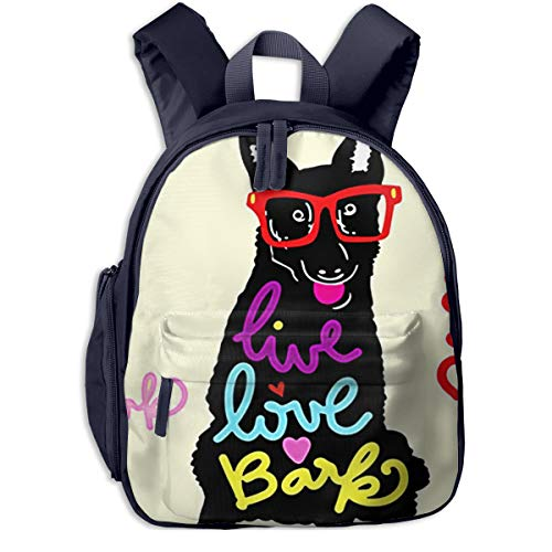 Kinderrucksack Kleinkind Jungen Mädchen Kindergartentasche Stylische Hundesonnenbrille Live Backpack Schultasche Rucksack