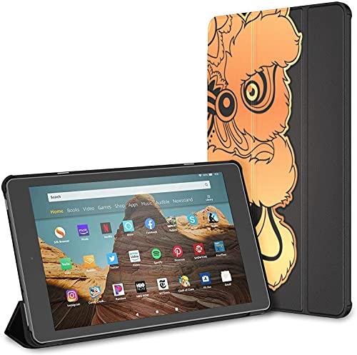 Custodia per tablet Chinese Lion Head Dance Fire Hd 10 (9a settima generazione, versione 2019 2017) Custodia rigida Kindle Fire Hd 10 Custodia Auto Wake Sleep per tablet da 10,1 pollici