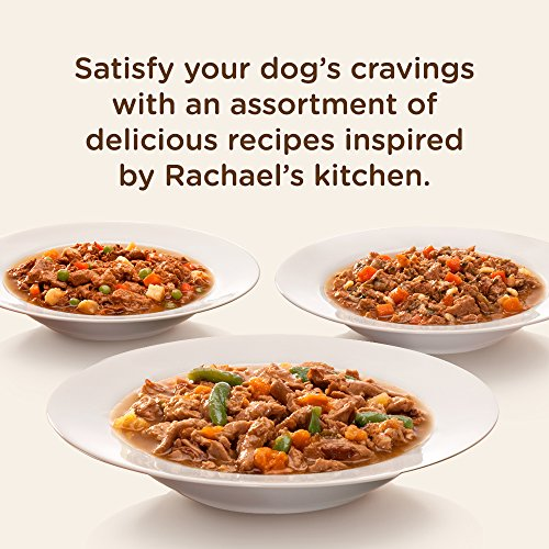 Rachael Ray Nutrish Premium Natural Wet Dog Food, Savory Favorites Variety Pack, 8 Ounce Tub (Pack of 6)