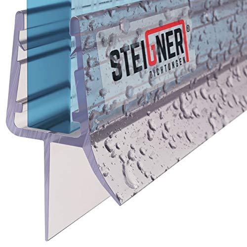 STEIGNER Duschdichtung, 80cm, Glasstärke 3,5/4/ 5 mm, Gerade PVC Ersatzdichtung für Dusche, UK13