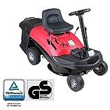 Home Deluxe - Benzin Aufsitzrasenmäher - Reaper Rot - Motorleistung: 4,5 kW (6,5 PS) - 150 Liter Auffangkorb - 61 cm Schnittbreite und höhenverstellbar - Inkl. komplettem Zubehör