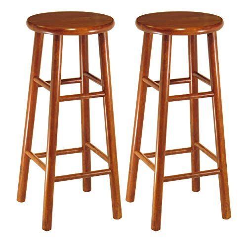 Winsome Wood Tabby Stool, 30-Inch, Cherry Cherry Unfinished Bar Stool