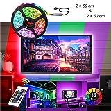7.22 piedi del USB TV retroilluminazione for 40-60In TV, 24 chiavi a distanza, luci di striscia del LED for la decorazione dell'interno fai da te WDDT
