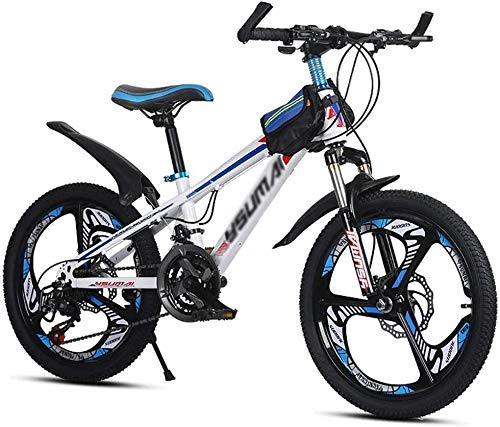Xiaoyue Kinderfahrräder Mountainbike Freier Kinder-Reise Fahrrad im Freien Mountainbike geeignet Sommersport Bike School Fahrrad (Geschwindigkeit einstellbar) (Farbe: Weiß, Größe: 20inch) lalay