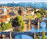 Praga paisaje paisaje pintura bricolaje set pintura pintura digital pintura moderna pared regalo
