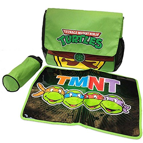 TMNT Ninja Turtles Messenger Diaper Bag Set