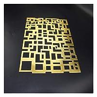 断熱パッド長方形不規則なボーダーPVC中空ランチョンマットキッチン用品ヨーロピアンスタイル(Size:ゴールド)