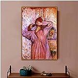 Henri De Toulouse-Lautrec, Antiguo Artista Famoso Famoso, Mujer Peinándose, Arte De Pared, Lienzo, Impresiones Sin Imágenes Enmarcadas