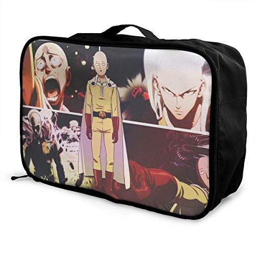 One Punch-Man Travel Lage Bolsa de viaje para mujeres y hombres, niños, impermeable, gran capacidad de bapa ligera, bolsas portátiles