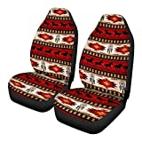 FKELYI Aztec Native American Seat Cover Baja Navajo African Tribal Horse Saddle Blanket Weave Universal Bucket Seat Cover Set of 2