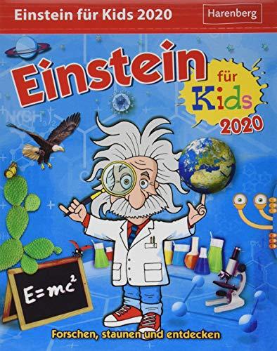 Einstein für Kids Kinderkalender. Tischkalender 2020. Tageskalendarium. Blockkalender. Format 12,5 x 16 cm