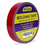 ATack Super Strength Molding Tape, Gray, 1/2-Inch x 30-Foot