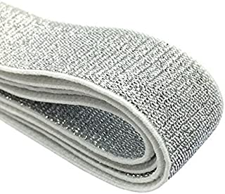 iCraft 1-inch Wide Soft Gold and Silver Glitter Elastic Bands By 3-yard, Silver 52020