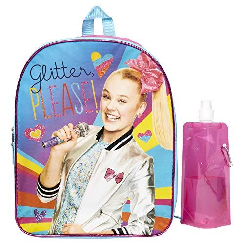 Jojo Siwa Backpack Combo Set - Jojo Siwa 3 Piece Backpack Set - Backpack, Water Bottle and Carabina (JoJo)