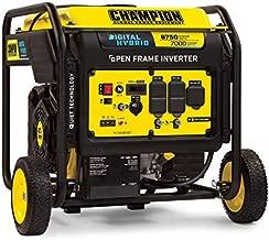 Champion Power Equipment 100520 8750-Watt DH Series Open Frame Inverter with Electric Start, Black/Yellow