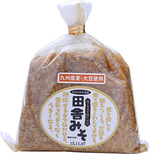 [キンコー醤油] 田舎みそ (甘口 麦味噌) 1�s×2個 九州産の麦・大豆使用