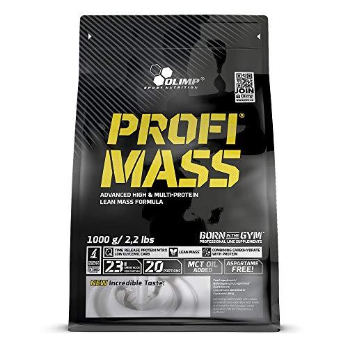 Olimp Sport Nutrition Profi Mass Zip Bag Ganador de Masa Muscular, Sabor Fresa - 1000 gr ⭐