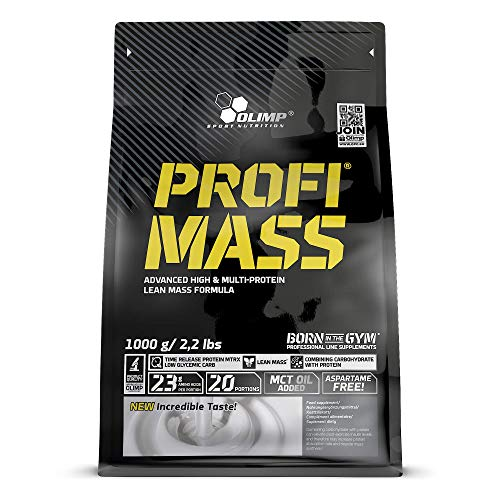 OLIMP SPORT NUTRITION Profi Mass Zip Bag Ganador de Masa Muscular, Sabor Chocolate - 1000g