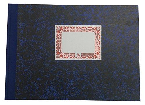 Dohe 9971 - Cuaderno cartoné, rayado horizontal, folio apaisado