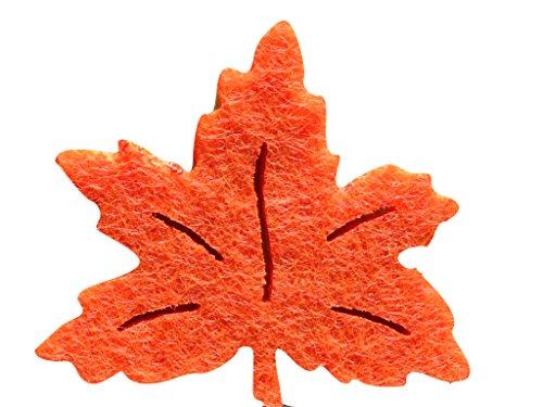 Bastel-s petra'news a-laf 1004-16 ahornblatt décoratifs 100 x 40 mm, feutre orange