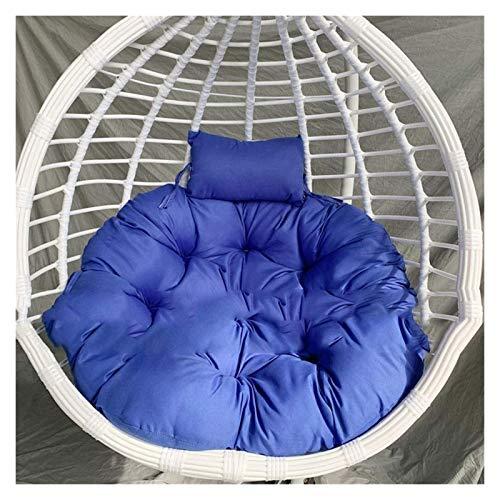 LLNN Home Decoration Swing Chair Cushion Egg Hammock Chair Pads Chair Seat Cushioning, Hanging Basket Seat Cushion for Patio Garden Diameter 105cm Hanging Basket Furniture Cushion (Color : Blue)