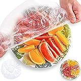 FORMIZON 200 Pezzi Sacchetti per La Conservazione dei Prodotti Freschi, Trasparente Sacchetti Elastici per Conservare Gli Alimenti, PE Riutilizzabile Copri Ciotola per Alimenti (200 Pezzi)