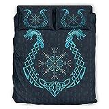 Juego de ropa de cama Tröster, juego de 4 fundas de edredón y fundas de almohada – suave y fácil de cuidar, color blanco 3 228 x 228 cm