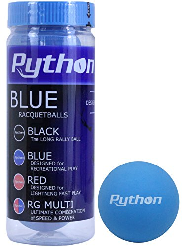 Python 3 Ball Can Blue Racquetballs (Standard Color w/Tournament Quality!) (1)