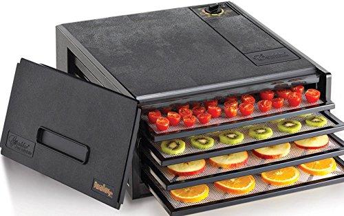 Excalibur exd400b 4bandeja deshidratador de alimentos, color negro