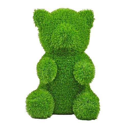 AniPlants 53251 Ours en Gazon Artificiel 32,5 x 38 x 50 cm Environ Résistant aux intempéries et indéformable avec Ancres de Fixation Idéal pour décorer Le Jardin ou la Maison, Vert, 50 cm