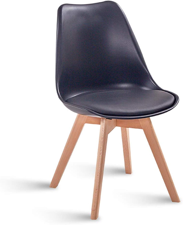 LRW Modern Creative Receptionist Office Chair Nordic Minimalist Leisure Chair Black