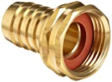 Anderson Metals Brass Garden Hose Swivel Fitting, Connector, 5/8' Barb x 3/4'...