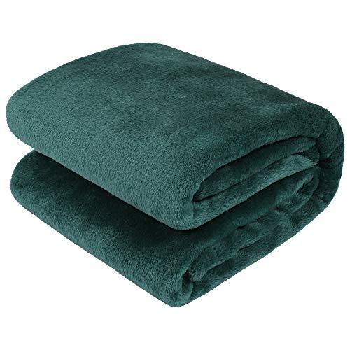 TILLYOU Micro Fleece Plush Baby Blanket Large Lightweight Crib Blanket