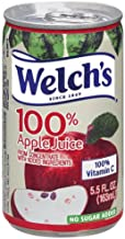 Welch's 100% Juice, Apple, No Sugar Added, 5.5 Ounce On the Go Cans (Pack of 48)