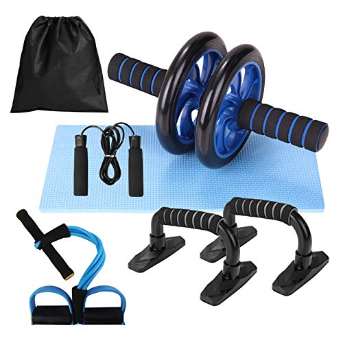 Lixada Rueda Abdominal Kit 5 en 1 Push-UP Bar