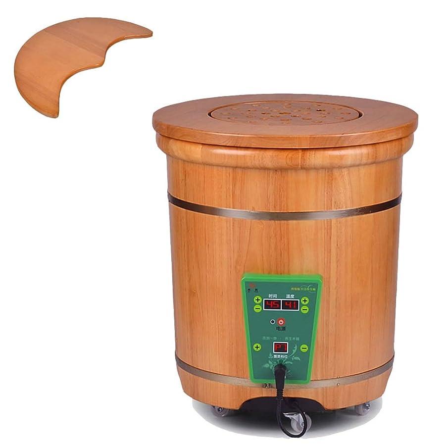 ゴールドリンクさまようフットスパマッサージ 加熱浴槽マッサージローラー振動デジタル調節可能な温度制御 (Color : D)
