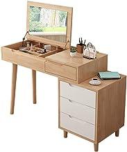 Nordic Solid Wood Dressing Table Modern Minimalist flip Function Dressing Table Mini Small Apartment Bedroom Folding Dress...