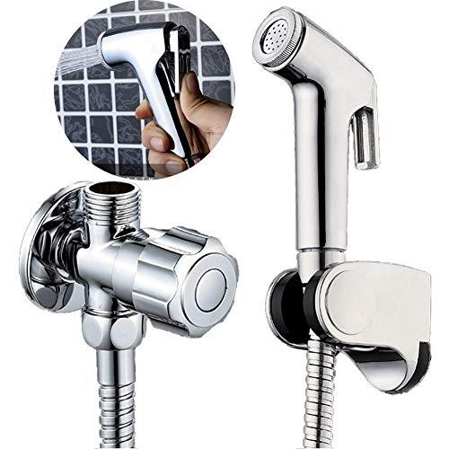 Aochol Bidet - Juego de rociador para inodoro con pulverizador de mano, accesorio para inodoro, baño para perros, limpieza de baño e higiene personal