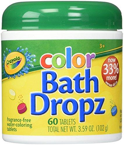 Colorant de bain Crayola 60tablettes bocal de 106,1 ml